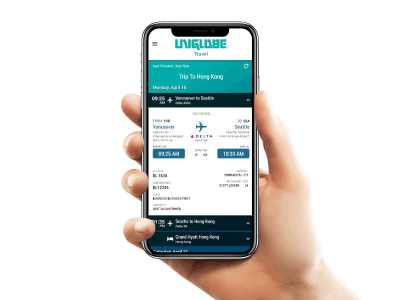 uniglobe-travel-app door UNIGLOBE Alliance Travel
