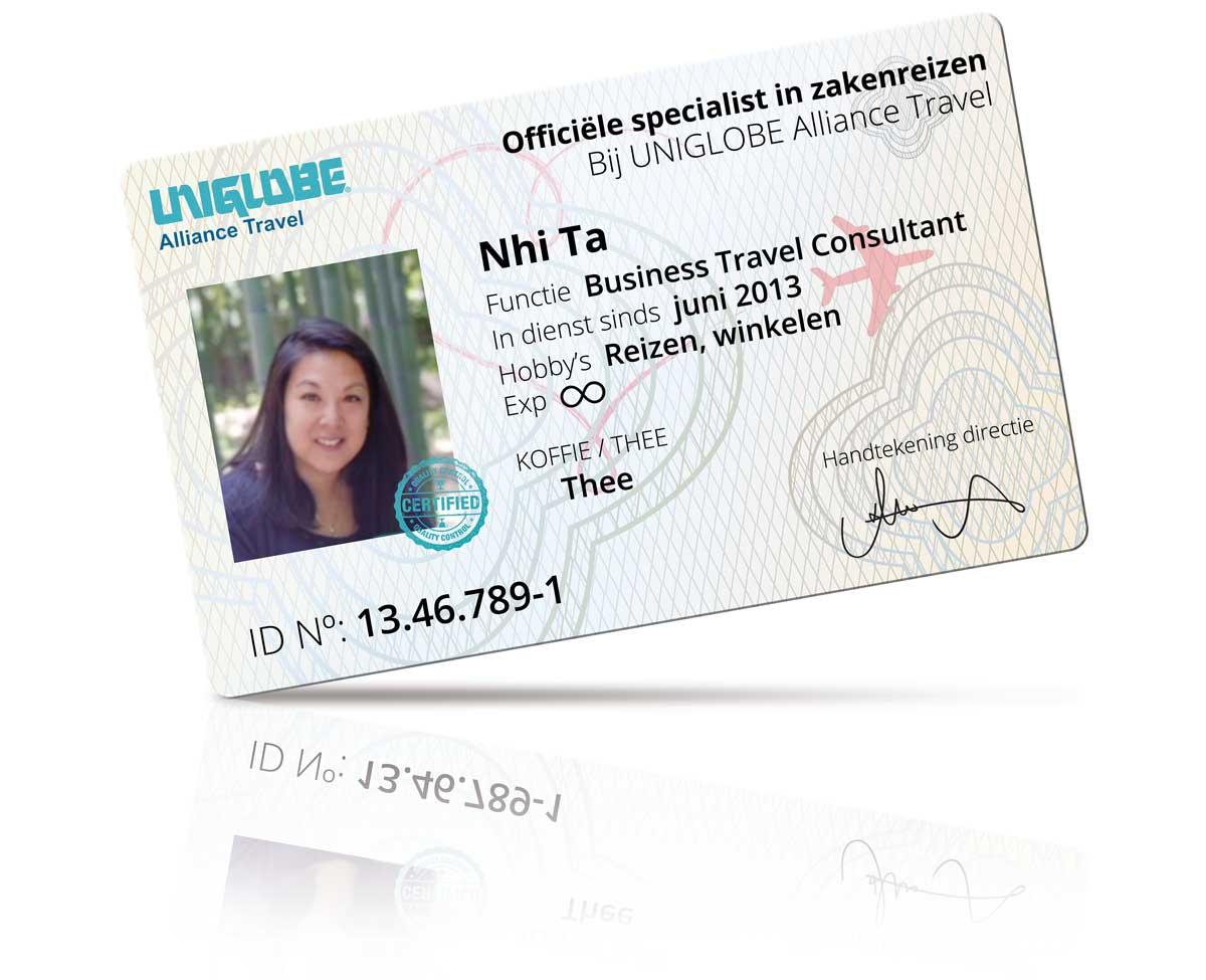 Paspoort van Business Travel Consultant Nhi