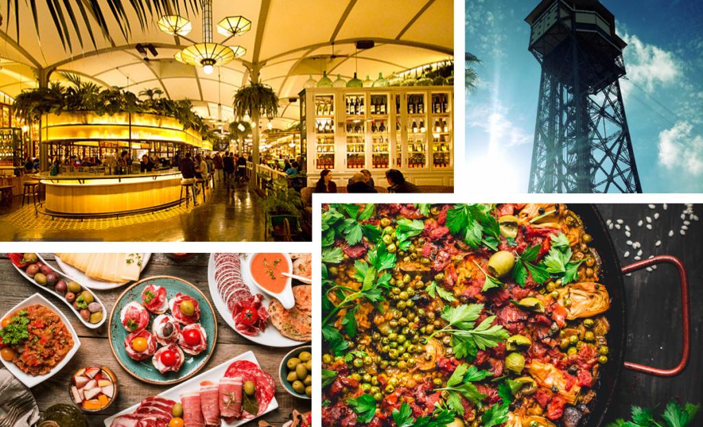 Must visit restaurants tijdens jouw businesstrip naar Barcelona: El Nacional, Los Caracoles, L'Orwell en Torre d'Alta Mar.