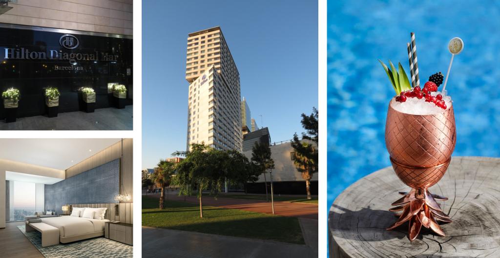 Hilton Diagonal Mar beschikt over een ideale locatie voor jouw businesstrip naar Barcelona: nabij het CCIB conferentiecentrum.