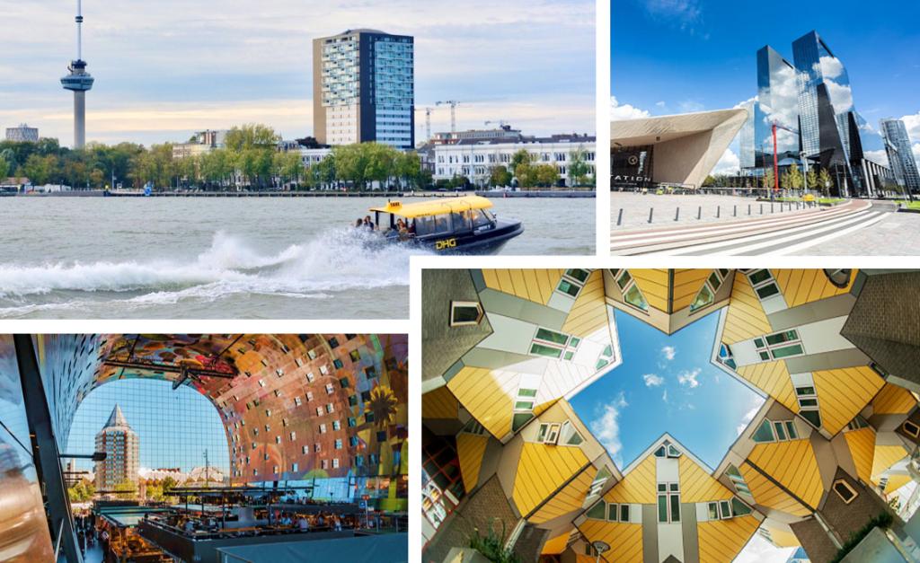 De prachtige hotspots van deze moderne havenstad zijn niet te missen tijdens jouw zakenreis naar Rotterdam.