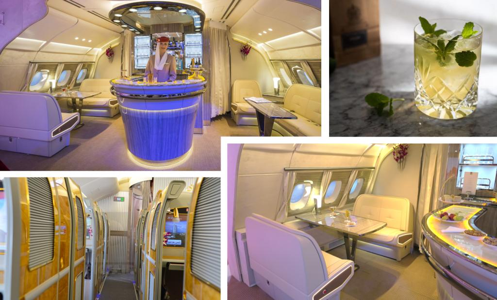 Dompel jezelf onder in ongekende luxe van de Emirates A380 on-board lounge.