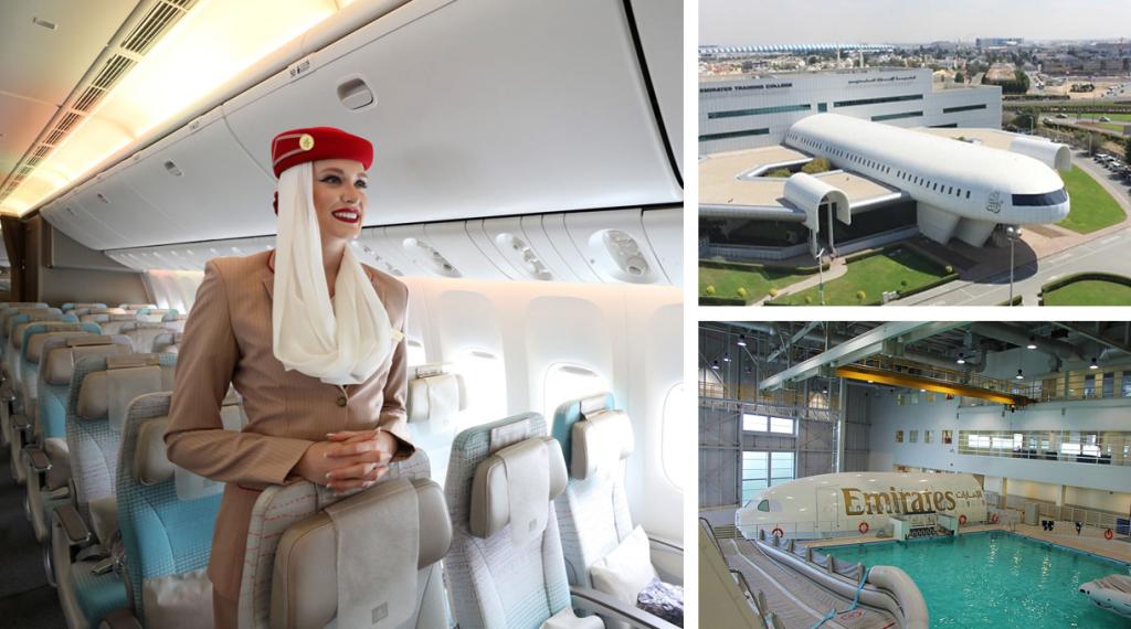 Ik bezocht het Emirates Crew Training Centre tijdens mijn reis naar Dubai.