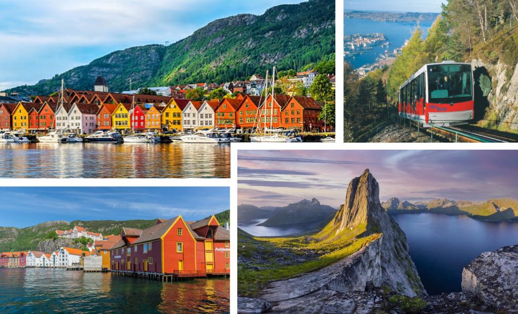 De prachtige Bryggen kade in Bergen.