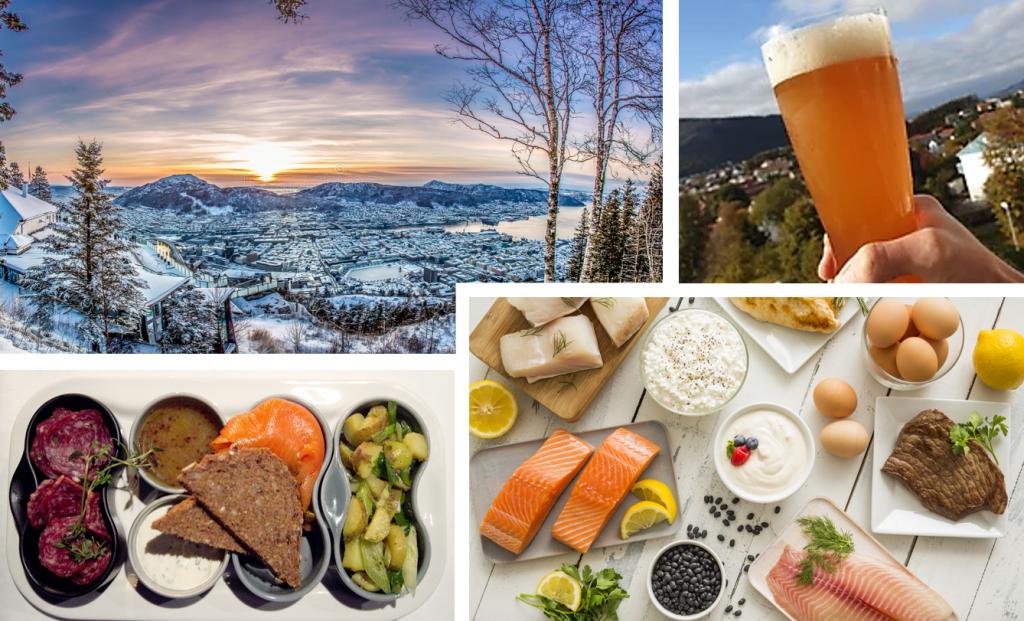 Noorwegen, Bergen staat bekend om haar verse vis. Zeker het proberen waard tijdens jouw zakenreis!